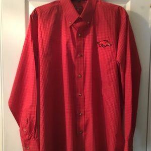 NWOTArkansas Razorbacks Antigua Button-Down Shirt